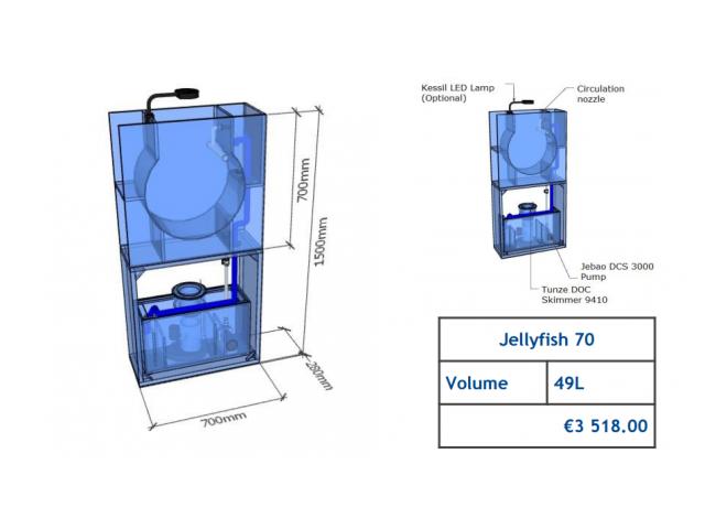 Jellyfish Aquarium 49l (can be inbuilt) Jellyfish aquariums