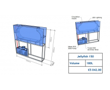 Jellyfish Aquarium 180 l (can be inbuilt) Jellyfish aquariums