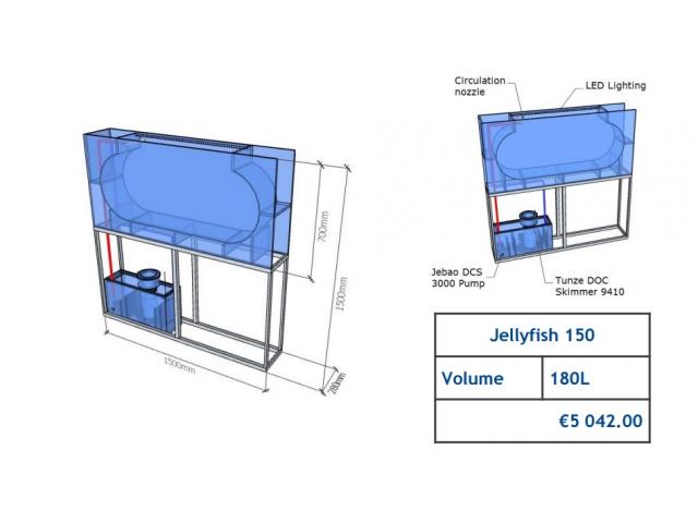 Jellyfish Aquarium 180 l (can be inbuilt) Jellyfish aquariums