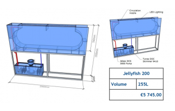 Jellyfish Aquarium 255 l (can be inbuilt) Jellyfish aquariums